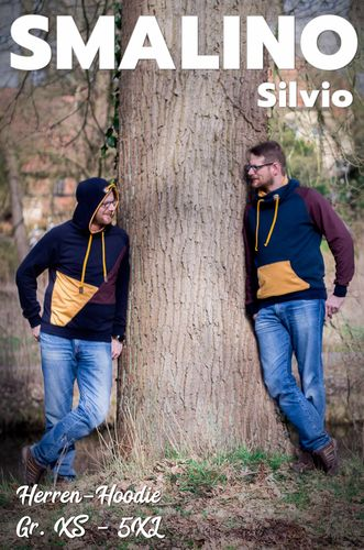 Produktfoto von Smalino für Schnittmuster Herren-Hoodie Silvio