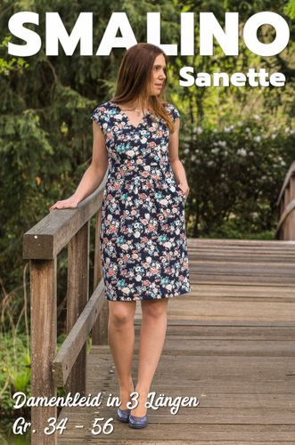 Produktfoto von Smalino zum Nähen für Schnittmuster Damen-Kleid Sanette