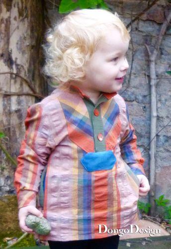 Produktfoto von DongoDesign zum Nähen für Schnittmuster Kinderhemd Fischers Fritzchen