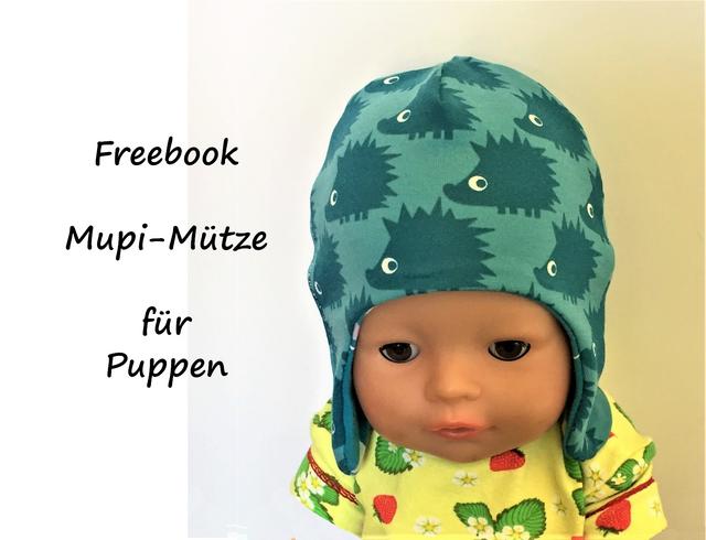 Produktfoto von Bunte Nähigkeiten zum Nähen für Schnittmuster Mupi-Mütze für Puppen