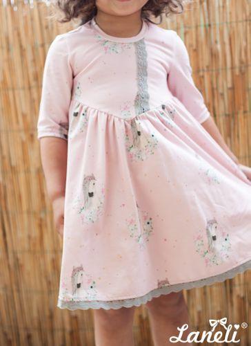 Produktfoto von Laneli zum Nähen für Schnittmuster Kleid #Petite Chloe -Jersey-