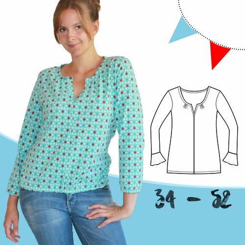 Produktfoto von Anni Nanni zum Nähen für Schnittmuster AnniNanni Blusenshirt