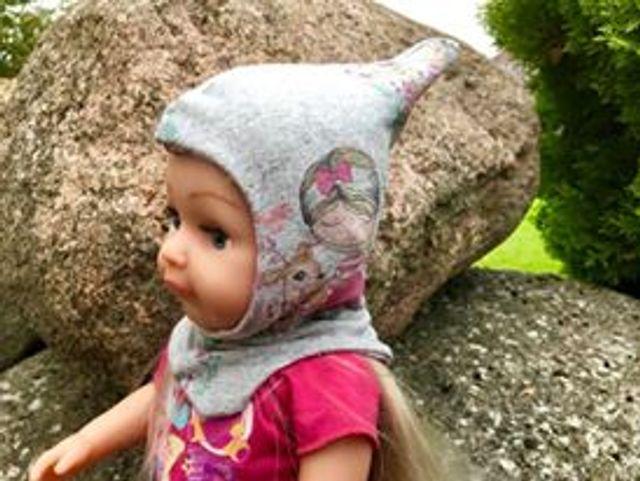 Produktfoto von Bunte Nähigkeiten zum Nähen für Schnittmuster Schlupfmütze Snoody für Puppen