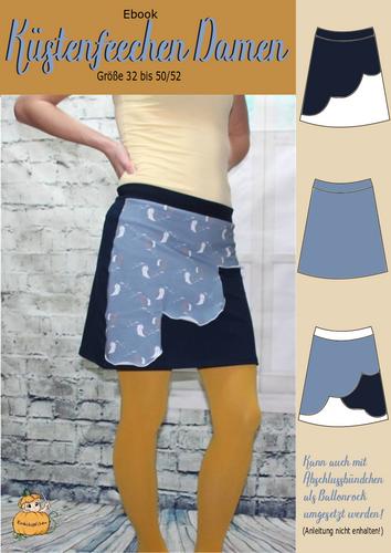 Produktfoto von Rosalieb & Wildblau zum Nähen für Schnittmuster Küstenfeechen Damen