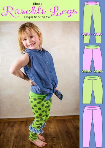 Produktfoto von Rosalieb & Wildblau zum Nähen für Schnittmuster Rüschli Legs