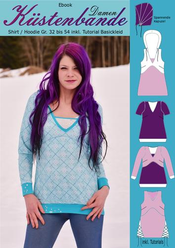 Produktfoto von Rosalieb & Wildblau zum Nähen für Schnittmuster Küstenbande Damen