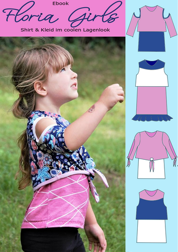 Produktfoto von Rosalieb & Wildblau zum Nähen für Schnittmuster Floria Girls