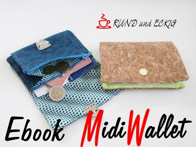 Produktfoto von RUND und ECKIG zum Nähen für Schnittmuster MidiWallet
