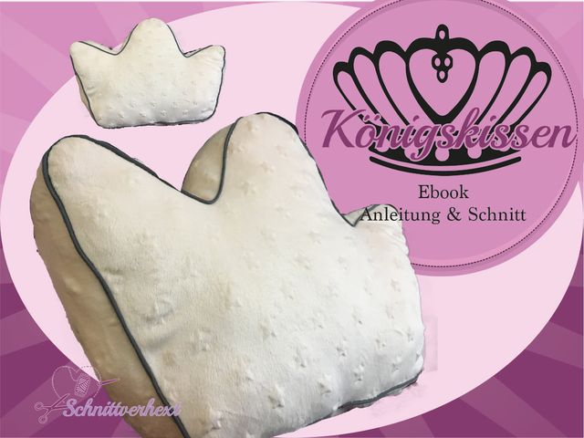 Produktfoto von Schnittverhext zum Nähen für Schnittmuster Königskissen