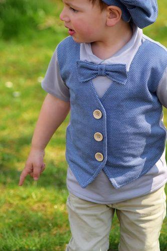 Produktfoto von Bunte Nähigkeiten zum Nähen für Schnittmuster Kleiner Gentleman