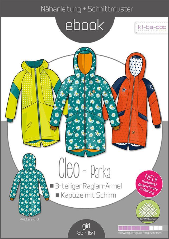 Produktfoto von ki-ba-doo zum Nähen für Schnittmuster Cleo-Parka