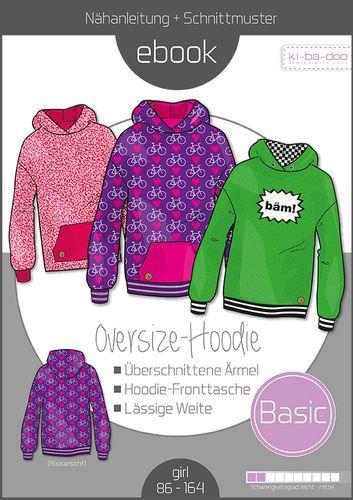 Produktfoto von ki-ba-doo zum Nähen für Schnittmuster Basic Oversize-Hoodie Kids