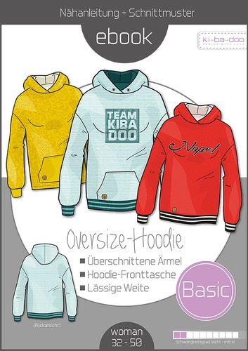 Produktfoto von ki-ba-doo für Schnittmuster Basic Oversize-Hoodie Damen