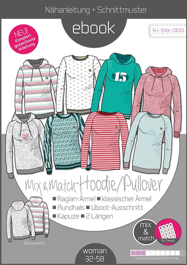 Produktfoto von ki-ba-doo zum Nähen für Schnittmuster Mix & Match Hoodie/Pullover Damen