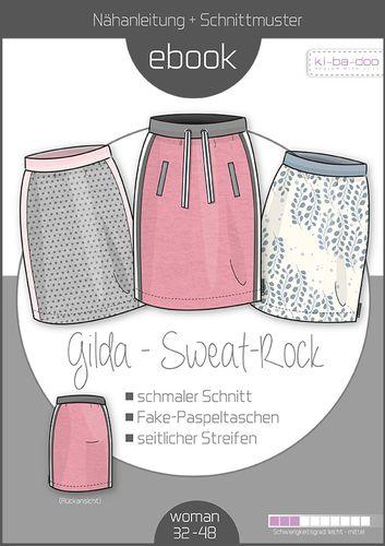 Produktfoto von ki-ba-doo zum Nähen für Schnittmuster Sweat-Rock Gilda