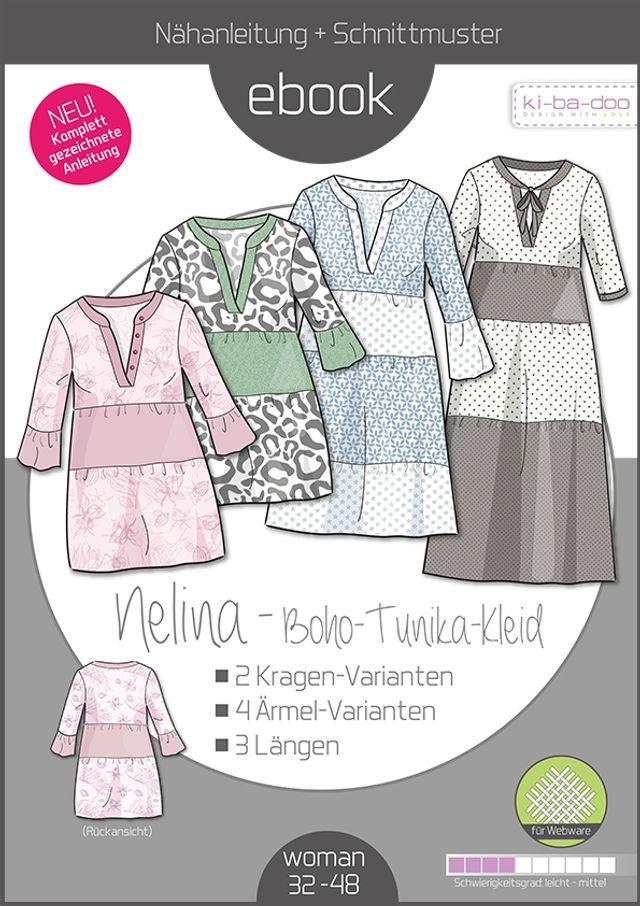 Produktfoto von ki-ba-doo zum Nähen für Schnittmuster Boho-Kleid/Tunika Nelina