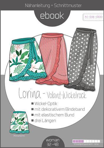 Produktfoto von ki-ba-doo zum Nähen für Schnittmuster Volant-Wickelrock Lorina