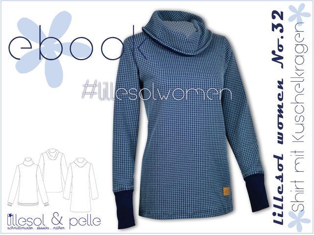 Produktfoto von Lillesol & Pelle zum Nähen für Schnittmuster Lillesol women No.32 Shirt mit Kuschelkragen