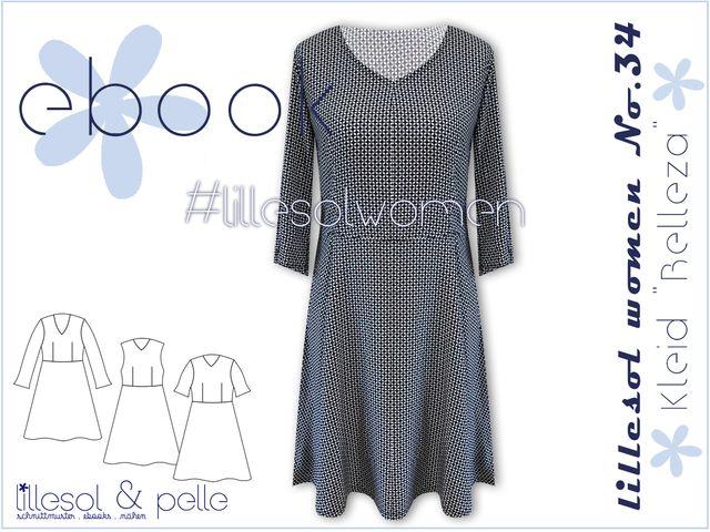 Produktfoto von Lillesol & Pelle zum Nähen für Schnittmuster Lillesol women No.34 Kleid Belleza
