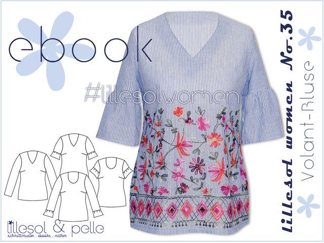 Produktfoto von Lillesol & Pelle zum Nähen für Schnittmuster Lillesol women No.35 Volant-Bluse