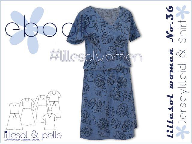 Produktfoto von Lillesol & Pelle zum Nähen für Schnittmuster Lillesol women No.36 Jerseykleid & -shirt