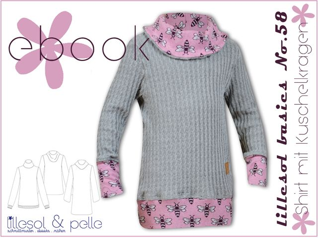 Produktfoto von Lillesol & Pelle zum Nähen für Schnittmuster Lillesol basics No.58 Shirt mit Kuschelkragen