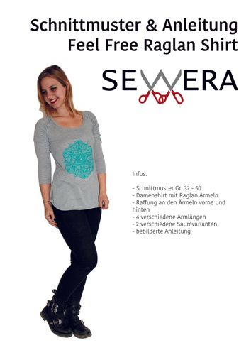Produktfoto von sewera zum Nähen für Schnittmuster Feel Free Raglan Shirt