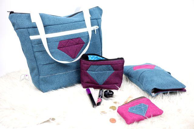 Produktfoto von Engelinchen zum Nähen für Schnittmuster Taschenserie Diamond