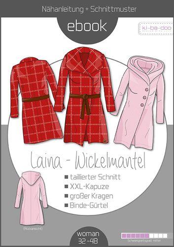 Produktfoto von ki-ba-doo zum Nähen für Schnittmuster Wickelmantel Laina