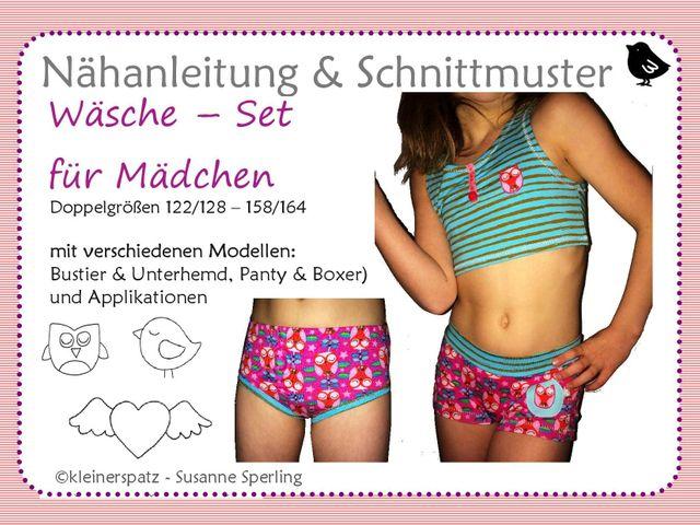 Produktfoto von kleinerspatz zum Nähen für Schnittmuster Mädchen-Set