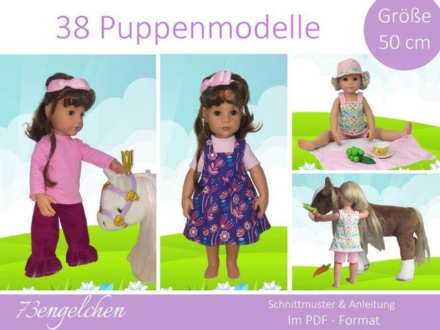 Produktfoto von 73engelchen zum Nähen für Schnittmuster Puppenkleidung 50 cm