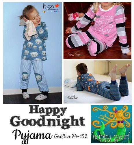 Produktfoto von Happy Pearl zum Nähen für Schnittmuster Pyjama Happy Goodnight