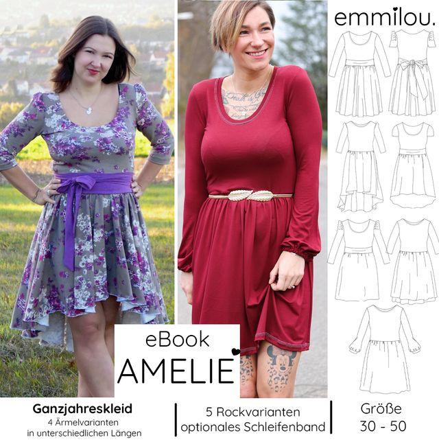 Produktfoto von emmilou. zum Nähen für Schnittmuster Große Amelie - Herbst/Winter-Variante