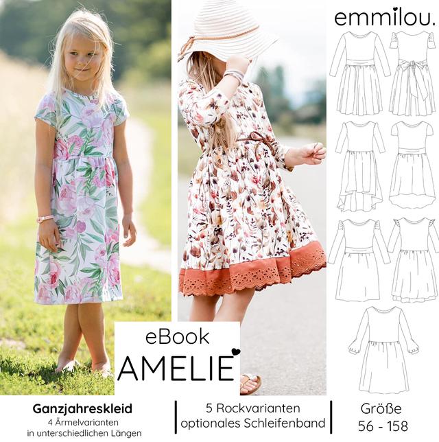Produktfoto von emmilou. zum Nähen für Schnittmuster Himmlische Amelie - Herbst/Wintervariante