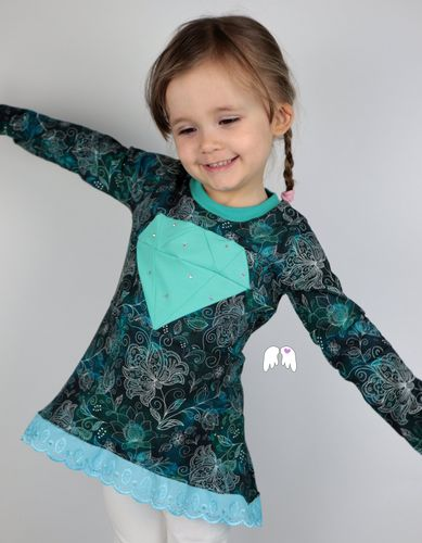 Produktfoto von Engelinchen zum Nähen für Schnittmuster Diamond Tunic Tunika