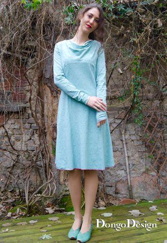 Produktfoto von DongoDesign zum Nähen für Schnittmuster Jerseykleid Marion