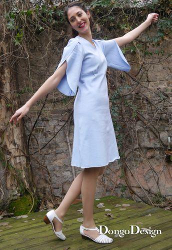 Produktfoto von DongoDesign zum Nähen für Schnittmuster Jerseykleid Angela