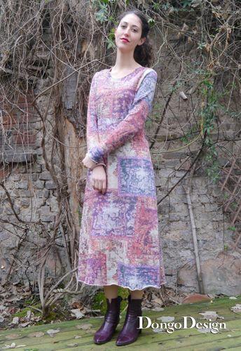 Produktfoto von DongoDesign zum Nähen für Schnittmuster Jerseykleid Angelika