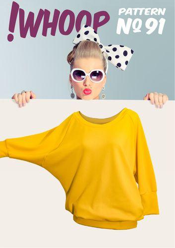 Produktfoto von !Whoop patterns für Schnittmuster # 91 Oversized Shirt
