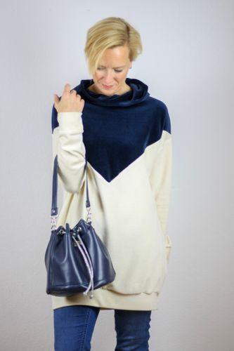 Produktfoto von LaLilly Herzileien zum Nähen für Schnittmuster Bucketbag Amabel