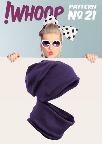 Produktfoto von !Whoop patterns zum Nähen für Schnittmuster #21 Mütze und Loop