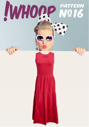 Produktfoto von !Whoop patterns zum Nähen für Schnittmuster #16 Kleid mit Stufenrock