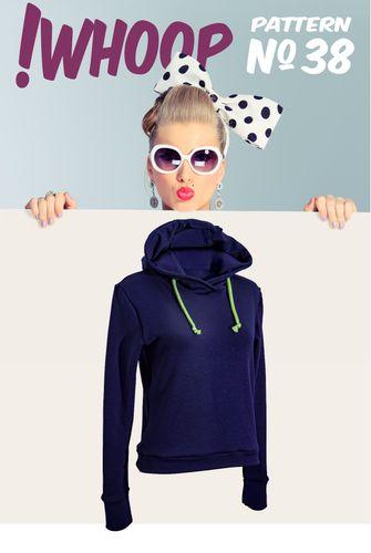 Produktfoto von !Whoop patterns zum Nähen für Schnittmuster #38 Hoodie