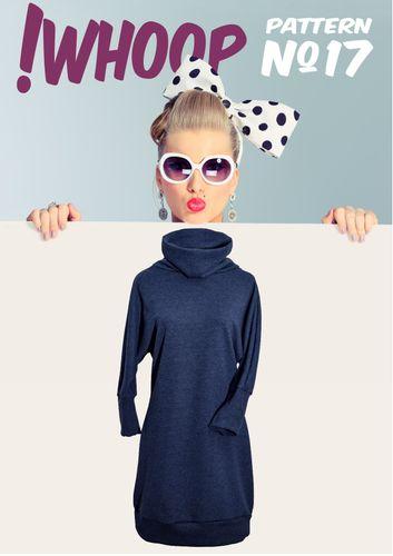 Produktfoto von !Whoop patterns zum Nähen für Schnittmuster #17 Kleid mit Fledermausärmeln