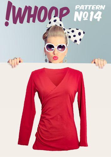 Produktfoto von !Whoop patterns zum Nähen für Schnittmuster #14 Wickelshirt