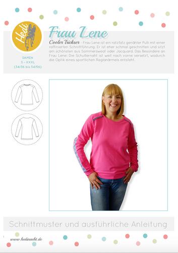 Produktfoto von Hedi zum Nähen für Schnittmuster Pulli Frau Lene
