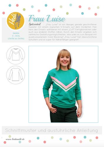 Produktfoto von Hedi zum Nähen für Schnittmuster Pulli Frau Luise