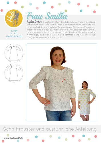Produktfoto von Hedi zum Nähen für Schnittmuster Kleid/Bluse Frau Smilla