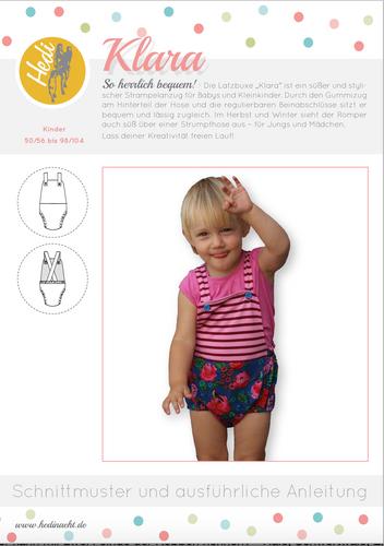Produktfoto von Hedi zum Nähen für Schnittmuster Latzbuxe Klara