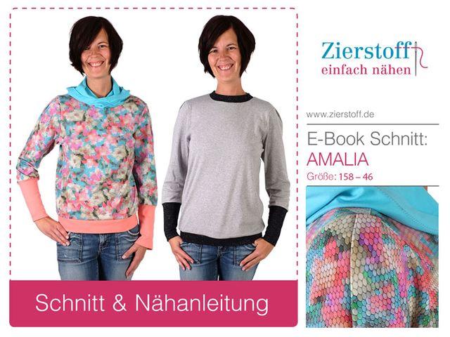 Produktfoto von Zierstoff zum Nähen für Schnittmuster Amalia 158-46